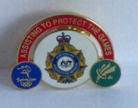 Australian Protective Services Sydney 2000 Olympic Games Rare Pin Badge 17