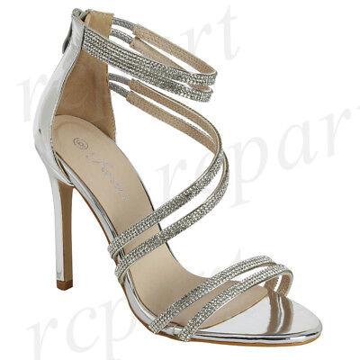 latest design newest style of a few days away New women's shoes evening rhinestones back zipper high heel wedding prom  silver | eBay