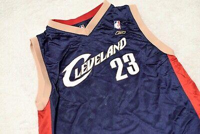 the best attitude fa58f 19fe2 Lebron James Cleveland Cavaliers Jersey Navy 23 Reebok Youth Large | eBay