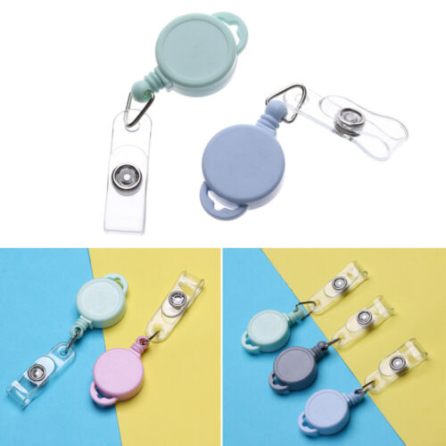 Fashion Retractable Badge Holder Anti-Lost Clip Lanyards Clip Key Ring