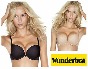 764a36e90f Wonderbra Full Effect 8144 Gel Push Up Plunge Padded Bra Black or ...
