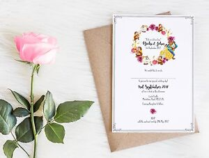 Details About 50 Disney Beauty The Beast Wedding Invitations Invites