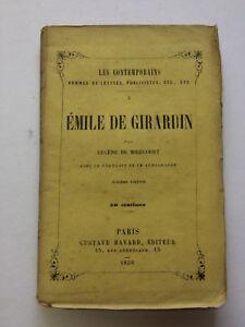 LES CONTEMPORAINS-EMILE DE GIRARDIN-Paris 1858 - France - Époque: XIXme Reliure: Cuir - France