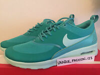 WMNS NIKE AIR MAX THEA UK 4 US 6.5 37.5 LIGHT RETRO TEAL MINT GREEN 599409-408 1