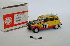 Mini Racing Kit monté 1/43 - Renault 4 4L Paris Dakar 1979