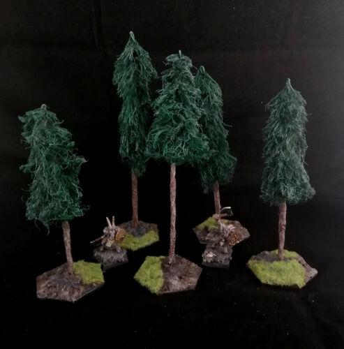 Warhammer Model Tree Scenery with modular scenic base