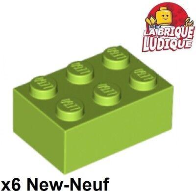 *NEW* 20 Pieces Lego Bricks 2x3 LIME GREEN 3002