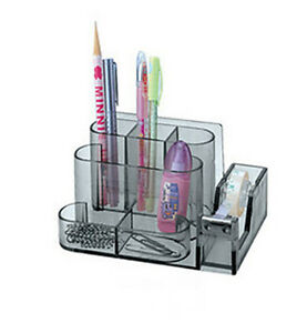 Image Is Loading Stationery Desk Organiser Clear Office Pen Pencil Paper