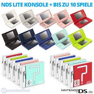 Nintendo-DS-Lite-Handheld-Konsole-Games-auch-fuer-GB-Advance-Spiele