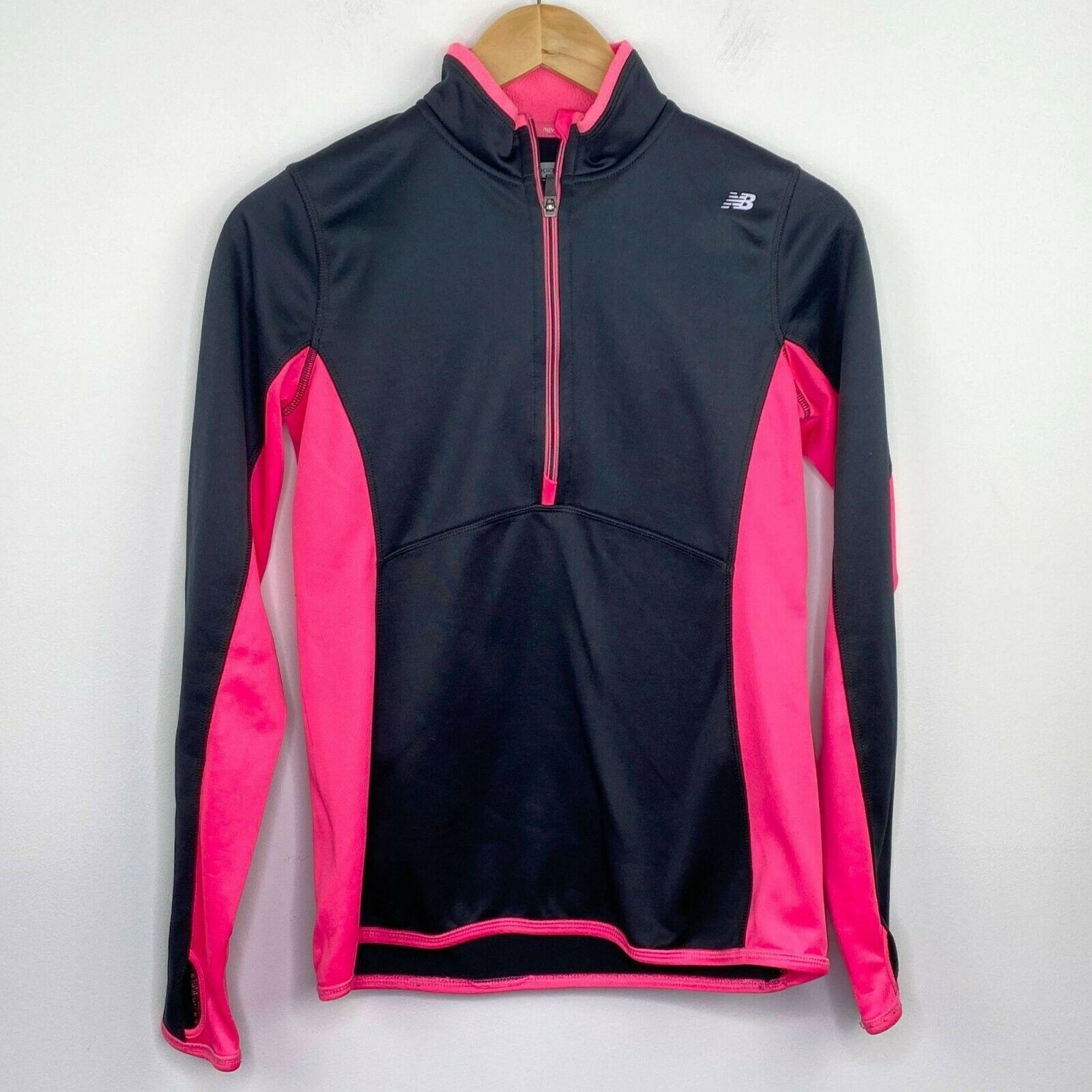 New Balance Black Pink Half Zip Long Sleeve Pullover Women's Size Small S