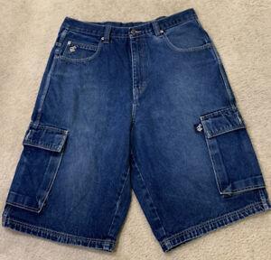Rocawear Para Hombre Medio Lavado Cargo Pantalones Cortos De Mezclilla Talla 38 Desde Entrepierna 13 Ebay