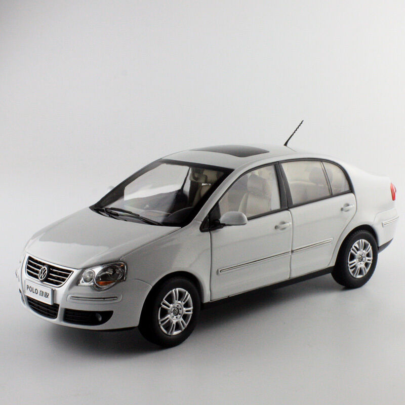 ORIGINAL MODEL 1 18 Volkswagen VW,POLO JINQING SEDAN 2007,WHITE