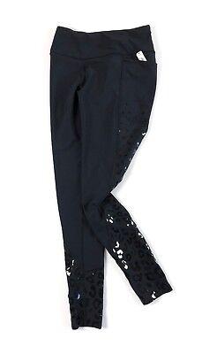 VICTORIA/'S SECRET TOTAL KNOCKOUT BLACK PRINTED WALKING LEOPARD TIGHT LEGGINGS M