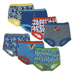 a148d21c1376 Disney Mickey Mouse Boys Potty Training Pants Underwear Toddler 7-pack Size  3t
