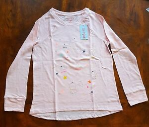 Girls' Cat & Jack Stars Constellations Pink Long Sleeve Shirt, Large Plus 10/12