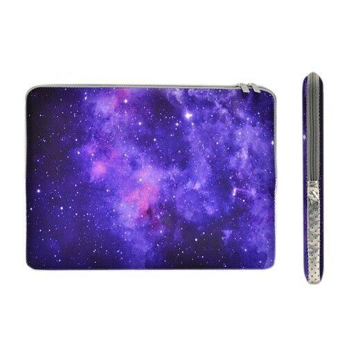 "Pro Purple Galaxy Graphic Zipper Sleeve Bag for 13/"" Macbook Chromebook Air"