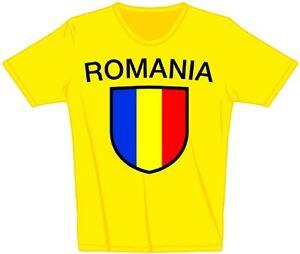 76134-PAESI-bambini-MAGLIETTA-TGL-80-152-STEMMA-ROMANIA-ROMANIA