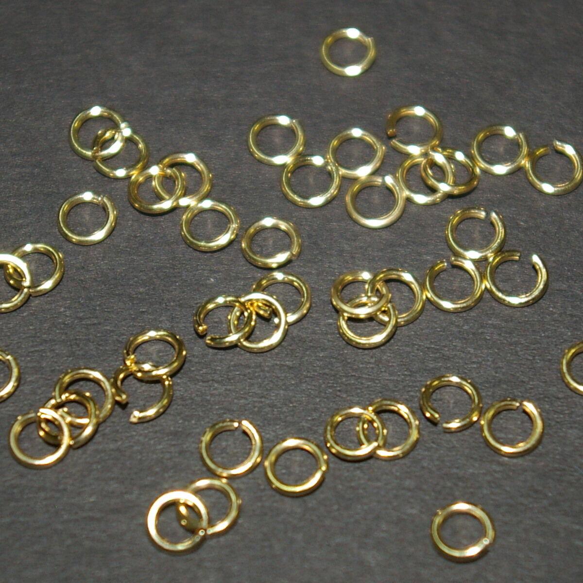 Pkg of 20 // SAW-CUT 22 Ga - O//D 4.0 MM Gold Filled Open Jump Ring