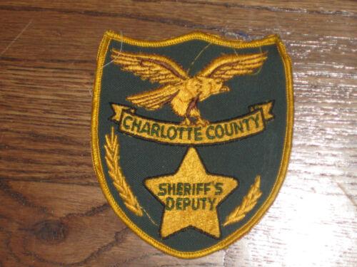 new old stock charlotte county,sheriffs deputy VINTAGE PATCH