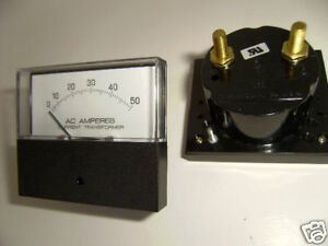 YOKOGAWA 0-50 AC AMP GAUGE~BOAT~RV~TRUCK~MOTORHOME~AMPS~251240LSNT7