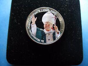 Pope John Paul Ii 1920 2005 Color On 2005 Kennedy Half