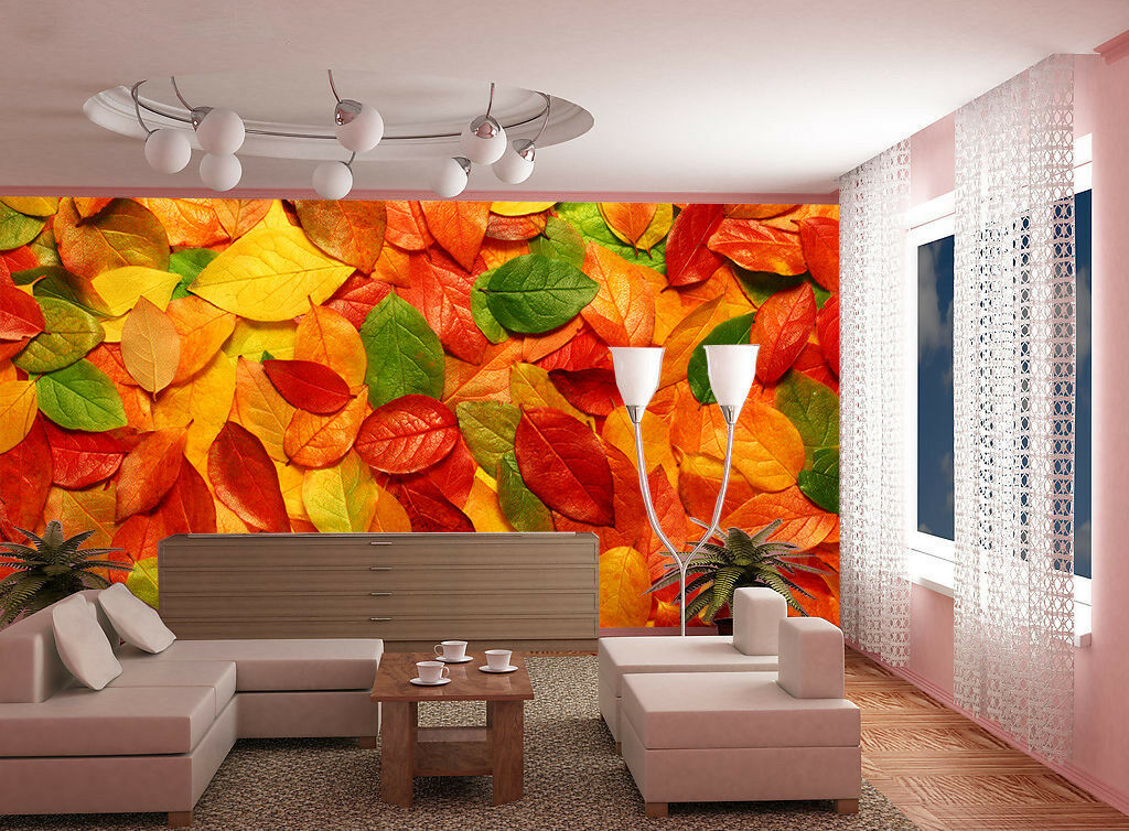 3D Herbst Blätter 853 Tapete Wandgemälde Tapete Tapeten Bild Familie DE Summer