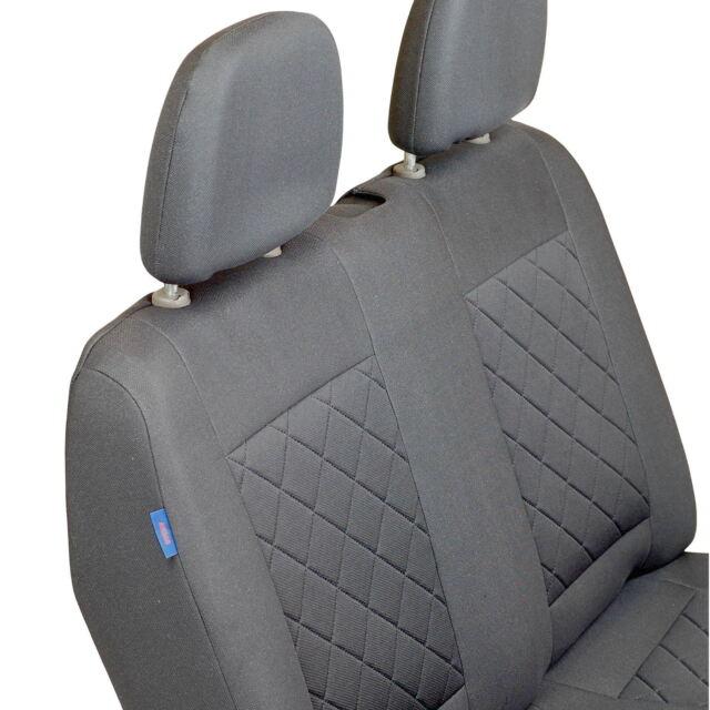 Intensiv Schwarze Sitzbezüge für VOLKSWAGEN VW T6 Set extra Funktion Öffnung