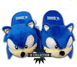 SONIC-THE-HEDGEHOG-CIABATTE-pantofole-slippers-new-bros-peluche-riccio-plush