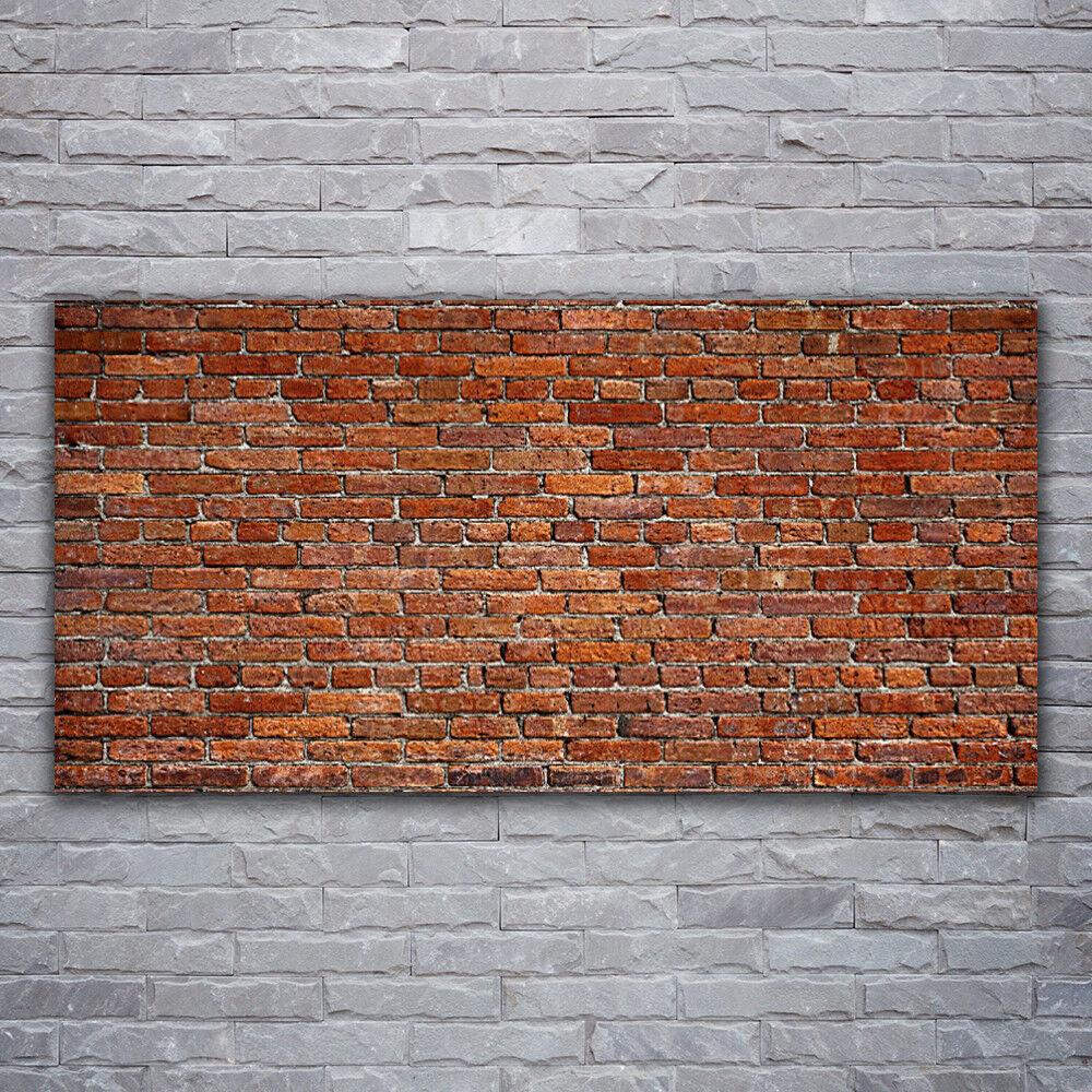 Verre Imprimer Wall Art Image 120x60 Photo Briques Art