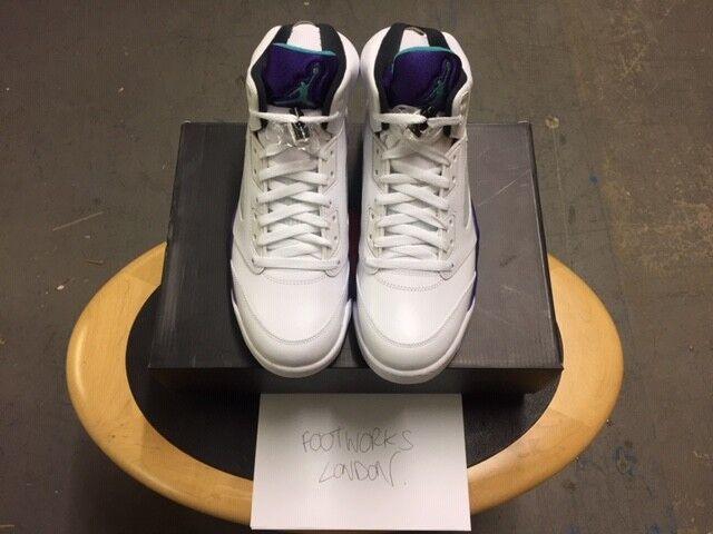 Nike Nike Nike air jordan 5 bianco   smeraldo uva nuova di zecca usa 11 | Folle Prezzo  | Uomo/Donne Scarpa  ab01e7