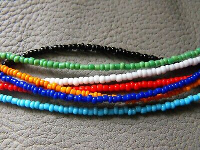 """14/"""" 22/"""" glass beaded collar choker necklace WHITE GLASS SEED BEAD #2"""