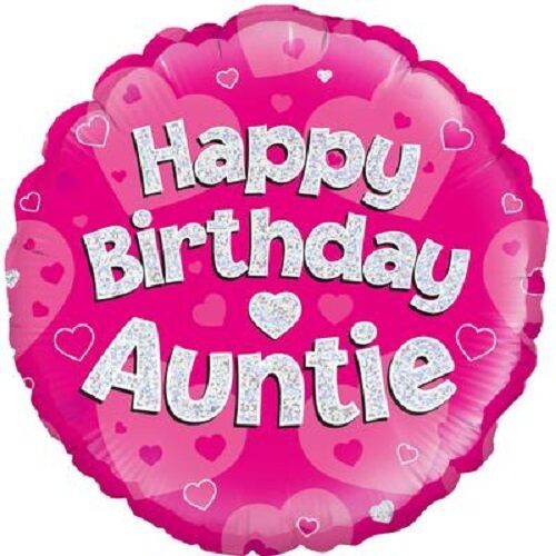 Happy Birthday Auntie Foil Balloon 45cm 18 inch Party Event Decoration