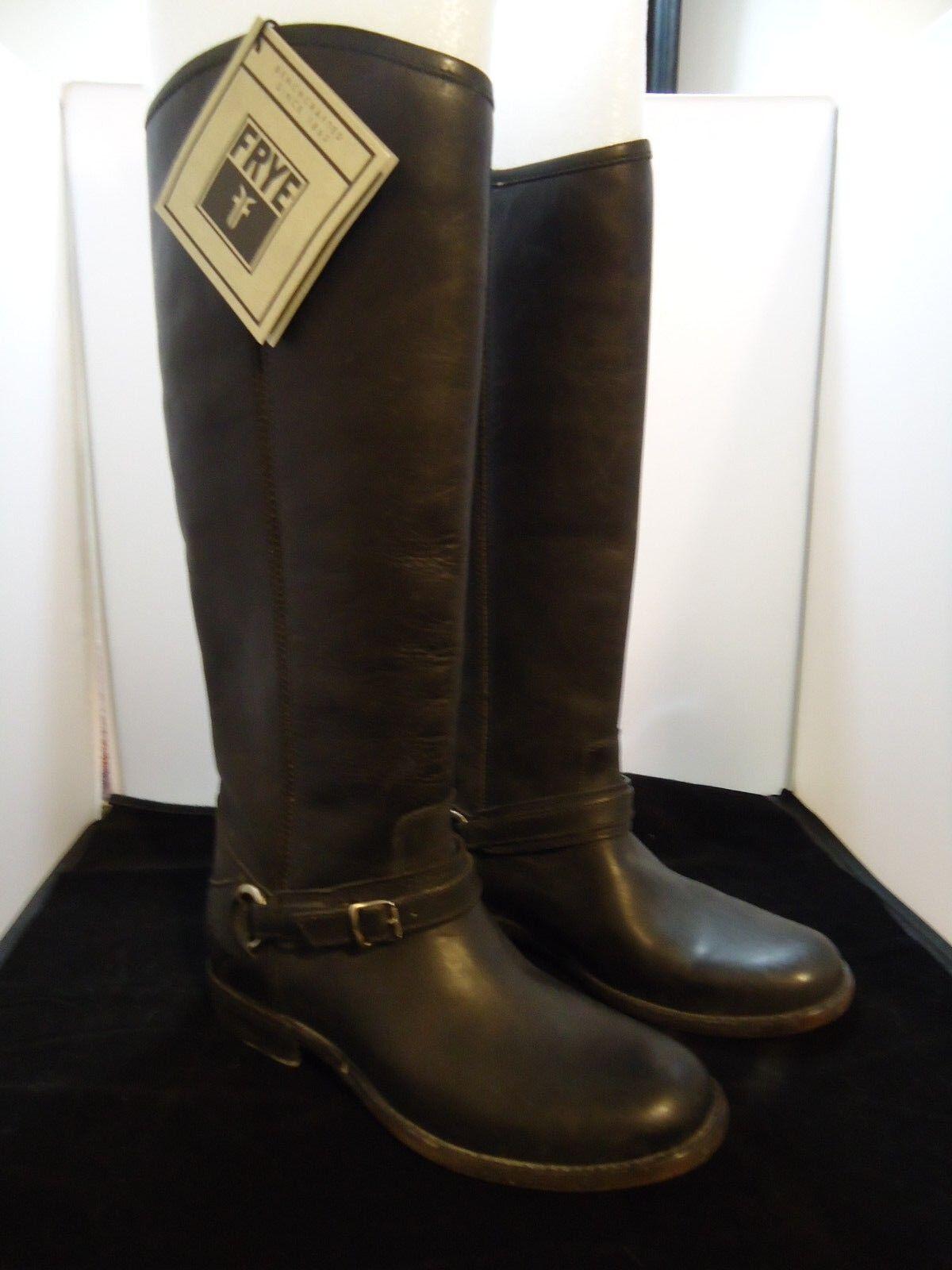 Frye Phillip Anillo de alto Para Mujer De Cuero Cuero Cuero Negro botas De Montar Talla 7.5 Nuevo Con Etiquetas  468 aca1ea