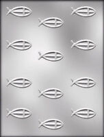 Religious Fish With Cross Clear Chocolate Candy Mold Ck 7010 -