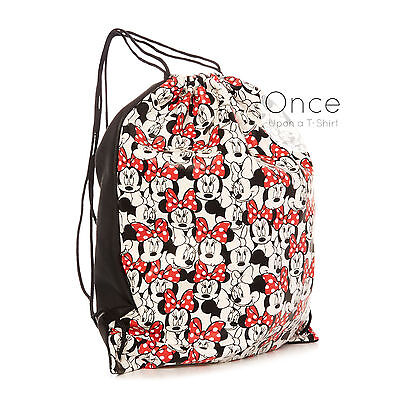 Primark DISNEY MINNIE MOUSE Faux Leather Drawstring Backpack Rucksack