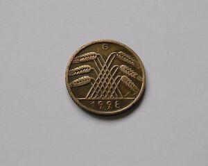 Weimar: 10 Reichspfennig 1928 G, J. 317 , Muy Bonito, Raro