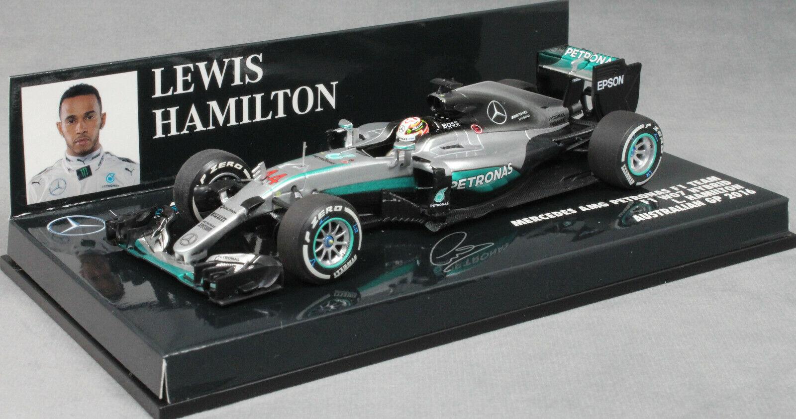 MINICHAMPS Mercedes-AMG F1 W07 Australia GP 2016 Lewis Hamilton 410160044 1 43