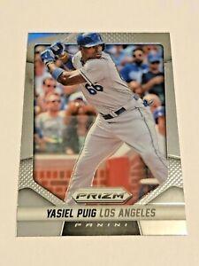 2014 Panini Prizm Baseball Base Card #28 - Yasiel Puig - Los Angeles Dodgers