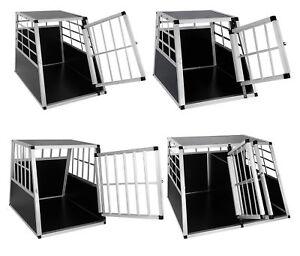 Hundetransportbox-Hundebox-Alu-Hunde-Reisebox-Gitterbox-Autotransportbox-e086