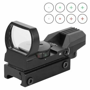 Reflex-Sight-Red-Dot-Sight-Scope-4-Reticles-Green-Red-For-Picatinny-Rail-Mount