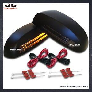 DBMOTOR 2007-2013 Silverado / Tahoe Mirror Cover with LED Indicator - Black