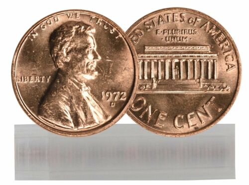 1972-D BU Lincoln Cent Roll