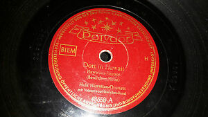 Dort-in-Hawaii-Hula-Hawaiin-Quartett-Schellack-Schaetzchen-Polydor