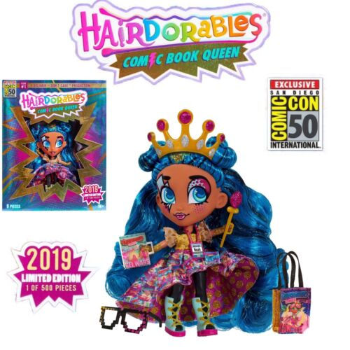 Hairdorables SDCC 2019 UCC Exclusive Comic Book queen deluxe doll set le 500