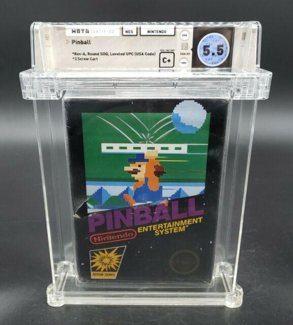 Pinball (Nintendo, 1985) NES Wata Graded 5.5 C+ Sealed Brand New