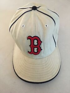 46355216f Details about Boston Red Sox New Era Vintage Hat 7 3/8 FITTED White Cream