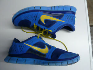 Details zu Orig NIKE Free RUN ID Gr. 45 US 11 29 cm Nike # 526805 992 blue yellow