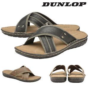 Dunlop-Mens-Slip-On-Flip-Flop-Sandals-Open-Toe-Beach-Pool-Shoes-Sizes-6-12
