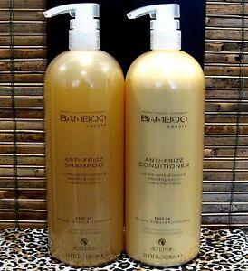 Alterna-Bamboo-Smooth-Anti-Frizz-Shampoo-amp-Conditioner-33-8-oz-Liter-Set-Duo