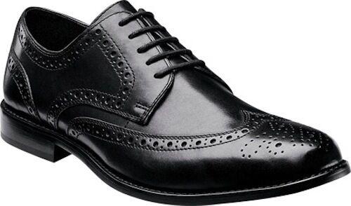 Nunn Bush Nelson Comfort Gel Men's Black Oxford Leather Shoes Style #84525